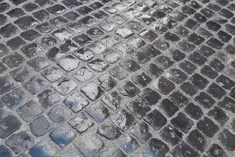 pavimentazione selcio romano